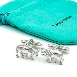 Tiffany & Co. Sterling Silver Cufflinks Bear&Bull